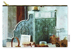 Carry-all Pouch featuring the photograph Cash Register In General Store by Susan Savad