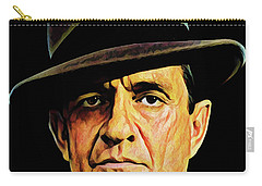 Cash With Hat Carry-all Pouch by Gary Grayson