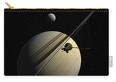 Cassini Passing Tethys Carry-all Pouch