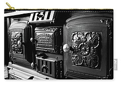 Carry-all Pouch featuring the photograph Cast Iron Character by Greg Fortier