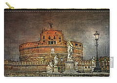 Carry-all Pouch featuring the photograph Castel Sant Angelo Fine Art by Hanny Heim