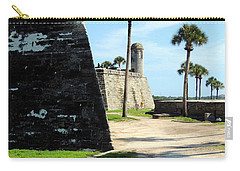 Carry-all Pouch featuring the photograph Castillo De San Marcos St Augustine Florida by Bill Holkham