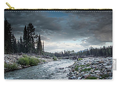 Casting To Cutthroat On A Cold Mountain Stream Carry-all Pouch