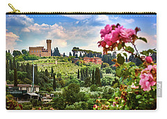Castle And Roses In Firenze Carry-all Pouch
