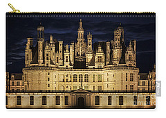 Carry-all Pouch featuring the photograph Castle Chambord Illuminated by Heiko Koehrer-Wagner