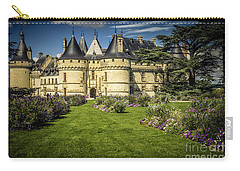 Carry-all Pouch featuring the photograph Castle Chaumont With Garden by Heiko Koehrer-Wagner