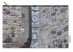 Castle Clock Through Walls Carry-all Pouch by Margaret Brooks