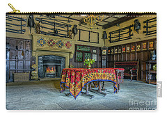 Carry-all Pouch featuring the photograph Castle Dining Room by Ian Mitchell