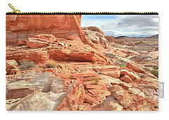 Castle High Above Wash 5 In Valley Of Fire Carry-all Pouch