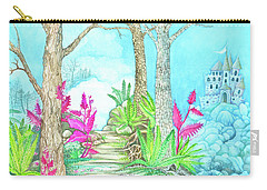Castle In The Blue Carry-all Pouch