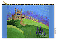 Carry-all Pouch featuring the painting Castle In The Sky by Johanne Peale