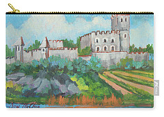 Carry-all Pouch featuring the painting Castle On The Upper Rhine River by Diane McClary