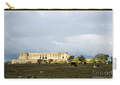 Carry-all Pouch featuring the photograph Castle Ruin In Spotlight by Kennerth and Birgitta Kullman