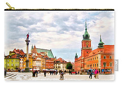 Castle Square, Warsaw Carry-all Pouch by Maciek Froncisz