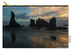 Carry-all Pouch featuring the photograph Castles In The Sand by Mike Dawson