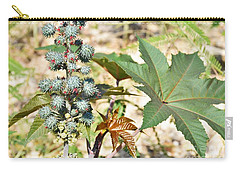 Carry-all Pouch featuring the photograph Castor Oil Plant by Ray Shrewsberry