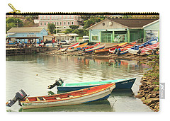 Castries Harbor Waterfront Carry-all Pouch by Roupen  Baker