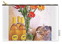 #cat + #wine + #flowers = The #caturday Carry-all Pouch