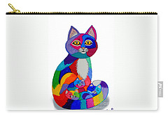 Cat And Kittens 2 Carry-all Pouch by Nick Gustafson