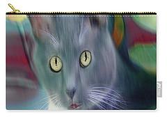 Cat Boticas Portrait 3 Carry-all Pouch