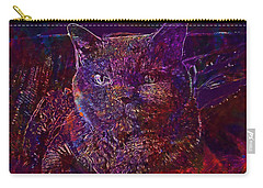 Carry-all Pouch featuring the digital art Cat Cat S Eyes Eye Animal Pet  by PixBreak Art