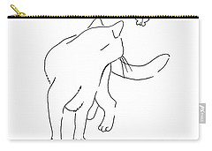 Cat-drawings-black-white-2 Carry-all Pouch