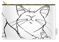 Cat Gesture Sketch Carry-all Pouch