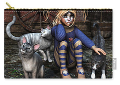 Cat Girl Carry-all Pouch by Jutta Maria Pusl