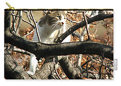 Cat Hunting Bird Carry-all Pouch