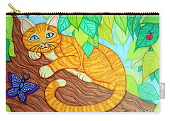Cat In A Tree Carry-all Pouch by Nick Gustafson