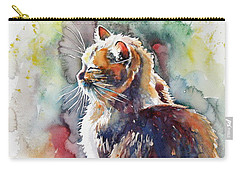 Cat In Backlight Carry-all Pouch