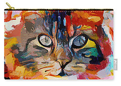 Cat In Fire Carry-all Pouch