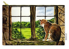Cat In The Castle Window Carry-all Pouch