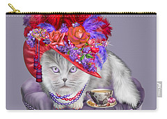 Cat In The Red Hat Carry-all Pouch by Carol Cavalaris