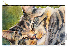 Cat Nap Carry-all Pouch by Bonnie Rinier