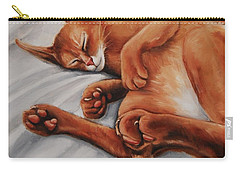 Cat Nap Carry-all Pouch by Jean Cormier