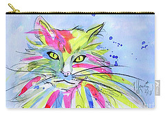 Cat Of Many Colors Carry-all Pouch