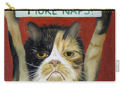 Cat On Strike Carry-all Pouch by Leah Saulnier The Painting Maniac