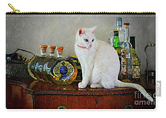 Cat On The Liquor Cabinet Carry-all Pouch by John Kolenberg