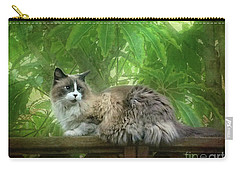 Cat On The Railing Carry-all Pouch