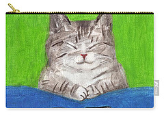 Cat With 12th Flag Carry-all Pouch