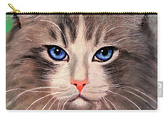 Cat With Blue Eyes Carry-all Pouch