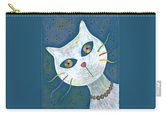 Cat With Kaleidoscope Eyes Carry-all Pouch