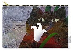 Cat With Lily Carry-all Pouch