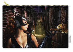 Cat Woman Carry-all Pouch by Alessandro Della Pietra