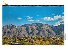 Carry-all Pouch featuring the photograph Catalina Mountain Panorama by Dan McManus