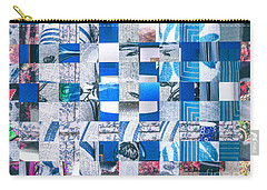 Carry-all Pouch featuring the mixed media Catalogue Blues by Jan Bickerton