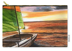 Catamaran At Sunset Carry-all Pouch