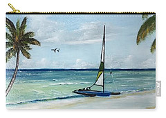 Catamaran On The Beach Carry-all Pouch