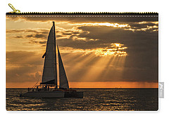Carry-all Pouch featuring the photograph Catamaran Sunset Cruise In Key West by Bob Slitzan